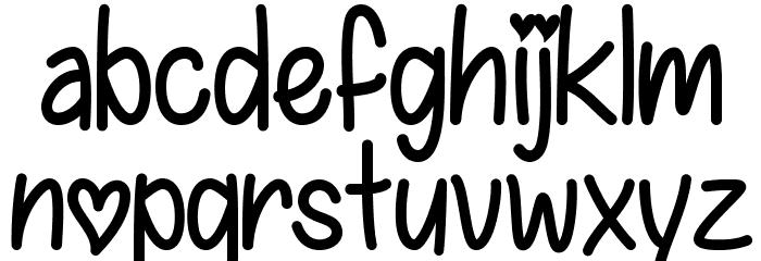 IFoundMyValentine Font LOWERCASE