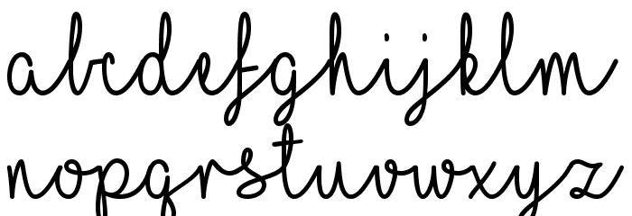 ILoveGlitter Font LOWERCASE