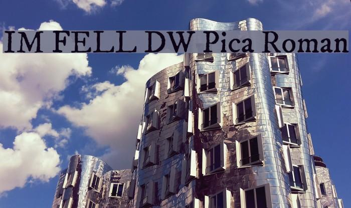 IM FELL DW Pica Roman Font examples