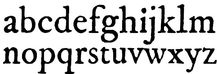 IM FELL DW Pica Roman Font LOWERCASE