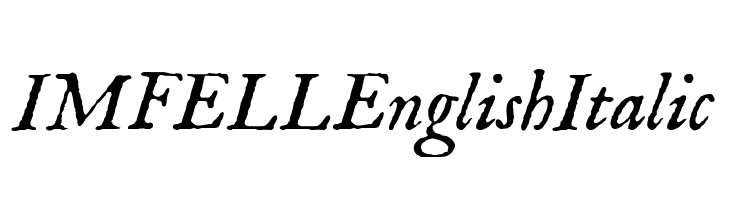 IM FELL English Italic  Free Fonts Download