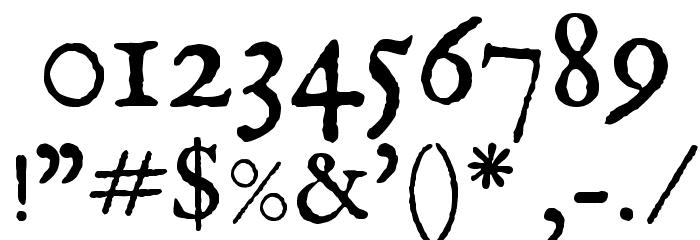 IM FELL English Roman SC Font OTHER CHARS