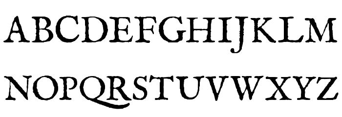 IM FELL English Roman SC Font UPPERCASE
