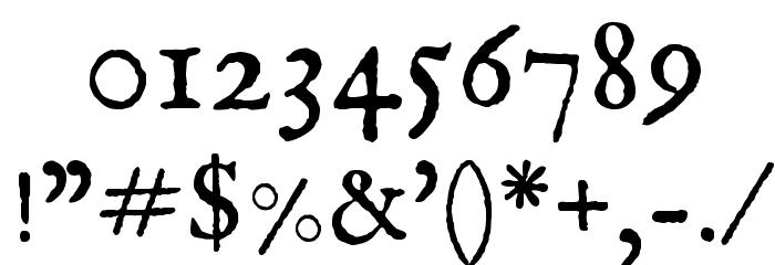 IM FELL English Roman Font OTHER CHARS