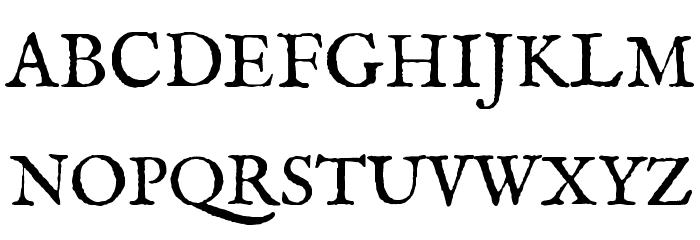 IM FELL English Roman Font UPPERCASE