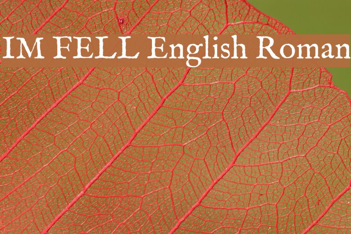 IM FELL English Roman Font examples