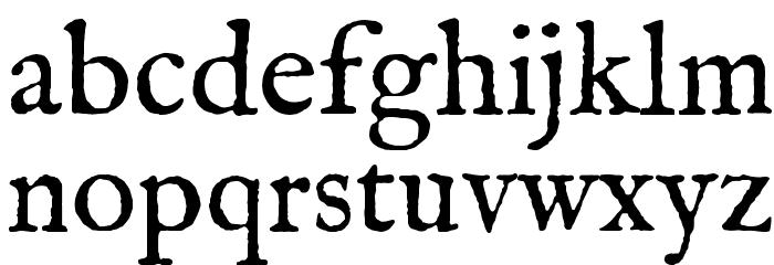 IM FELL English Roman Font LOWERCASE