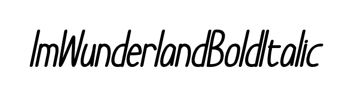 Im Wunderland Bold Italic  Free Fonts Download