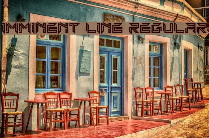 Imminent Line Regular Font examples