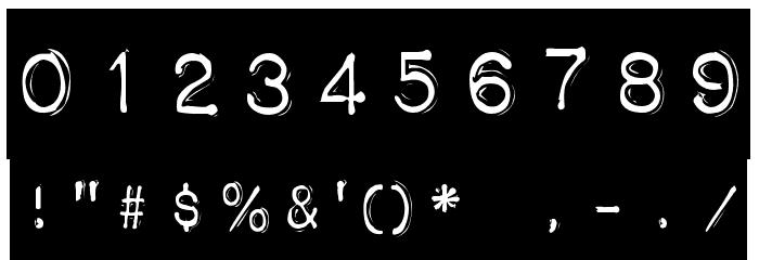 Impact Label Шрифта ДРУГИЕ символов
