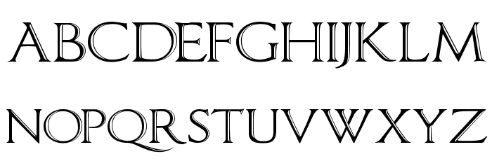 ImperatorBronzeSmallCaps Font LOWERCASE