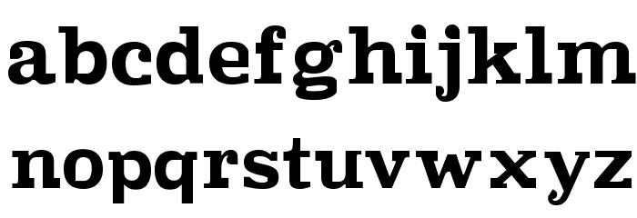 Improvisation Font LOWERCASE