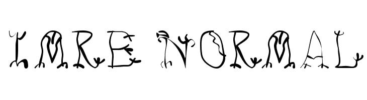 Imre Normal  Скачать бесплатные шрифты