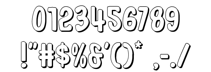 In-House Edition 3D Font OTHER CHARS
