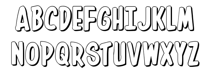 In-House Edition 3D Font UPPERCASE