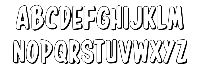 In-House Edition 3D Font LOWERCASE