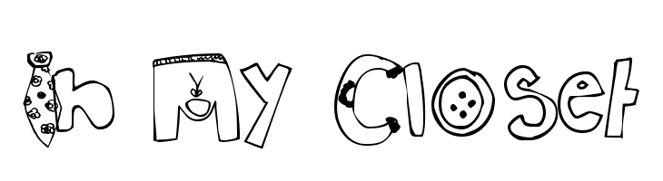 In My Closet  Free Fonts Download