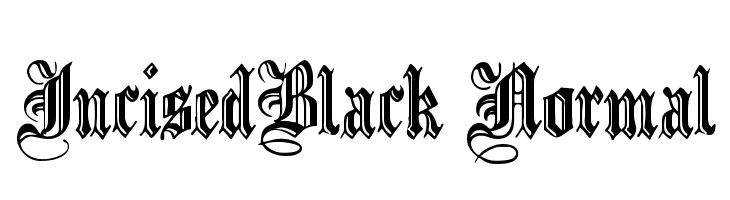 IncisedBlack Normal  Free Fonts Download