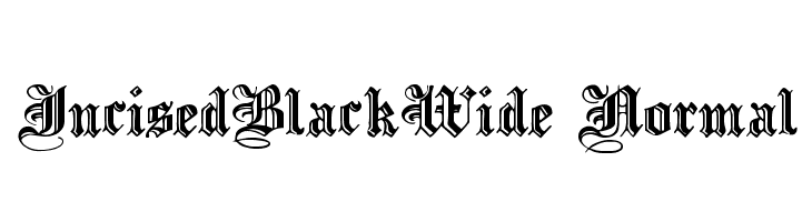 IncisedBlackWide Normal  Free Fonts Download