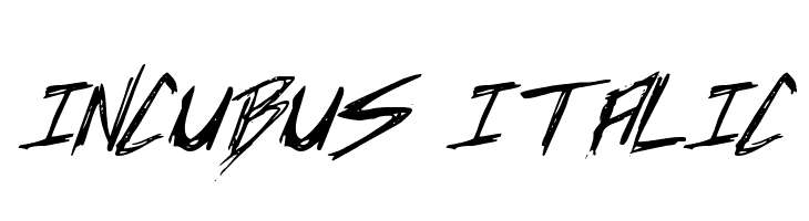 Incubus Italic  Free Fonts Download