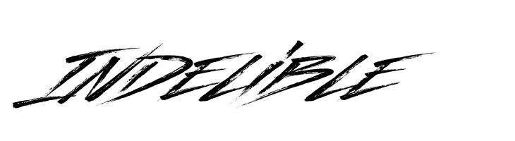 Indelible  Скачать бесплатные шрифты