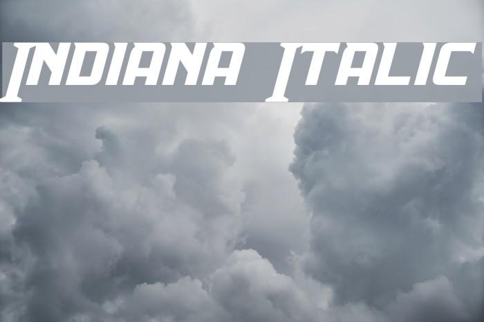 Indiana Italic Fonte examples