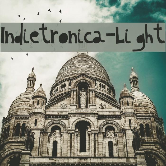 Indietronica-Light फ़ॉन्ट examples