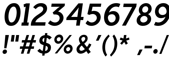 IndultaSemiSerif-Italic फ़ॉन्ट अन्य घर का काम