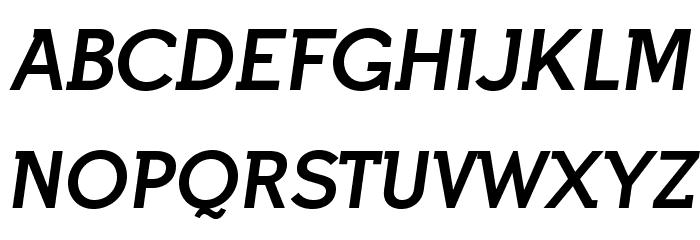 IndultaSemiSerif-Italic फ़ॉन्ट अपरकेस
