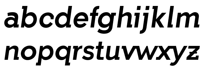 IndultaSemiSerif-Italic फ़ॉन्ट लोअरकेस