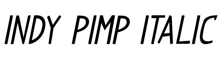 Indy Pimp Italic  Скачать бесплатные шрифты