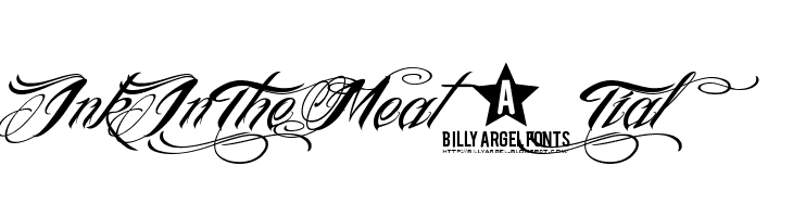 InkInTheMeat-Tial  Free Fonts Download