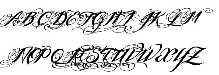 InkInTheMeat-Tial Font UPPERCASE