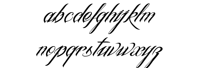 InkInTheMeat-Tial Font LOWERCASE