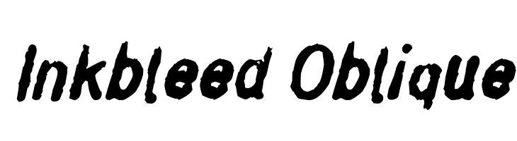 Inkbleed Oblique  フリーフォントのダウンロード