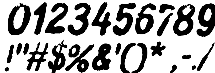 Inkbleed Oblique Font OTHER CHARS