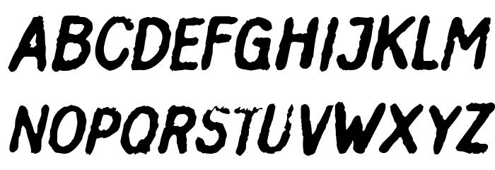 Inkbleed Oblique Font UPPERCASE