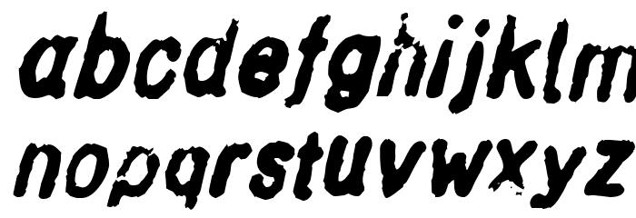 Inkbleed Oblique Font LOWERCASE
