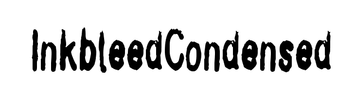 InkbleedCondensed  Free Fonts Download