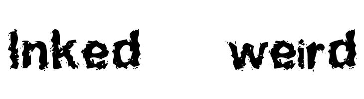 Inked    weird  font caratteri gratis