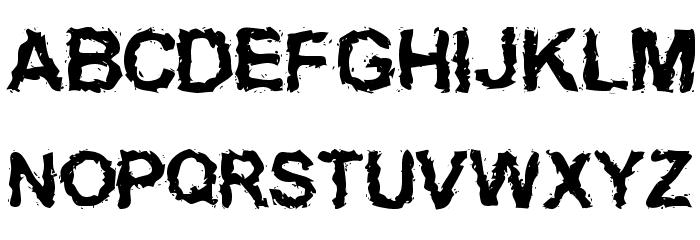 Inked    weird फ़ॉन्ट अपरकेस