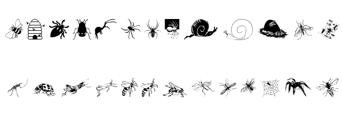 Insects07 Font UPPERCASE