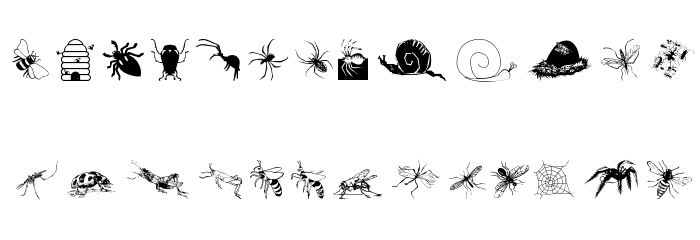 Insects07 Font LOWERCASE