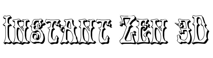 Instant Zen 3D Font - free fonts download
