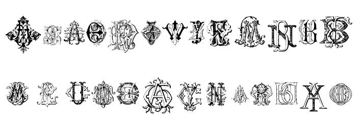 Intellecta Monograms Random Samples Шрифта строчной