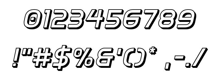 Inter-Bureau 3D Italic Schriftart Anderer Schreiben