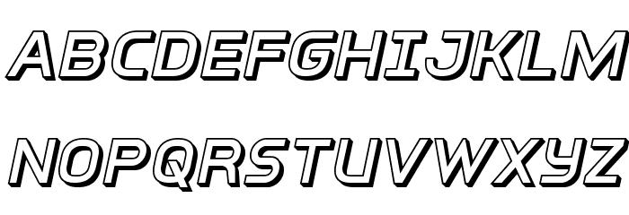 Inter-Bureau 3D Italic Schriftart Groß