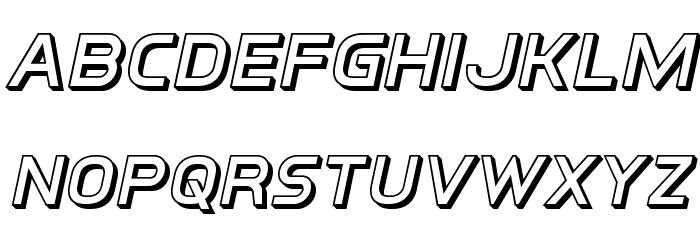 Inter-Bureau 3D Italic Schriftart Kleinbuchstaben