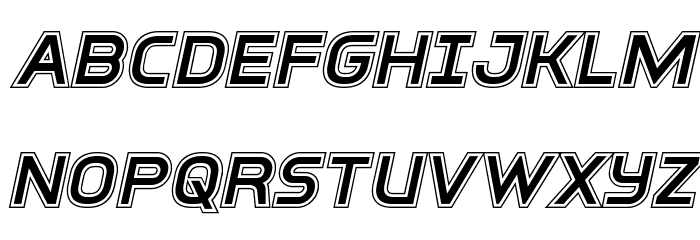 Inter-Bureau Academy Italic फ़ॉन्ट अपरकेस