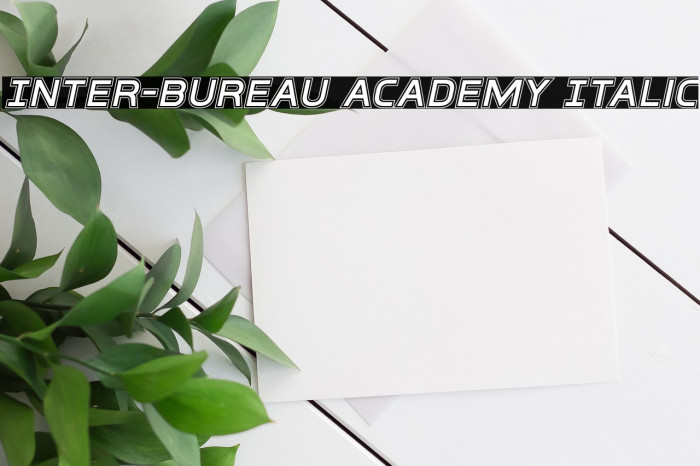 Inter-Bureau Academy Italic फ़ॉन्ट examples